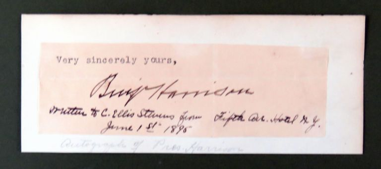 Clipped Signature With Provenance. Benjamin Harrison.