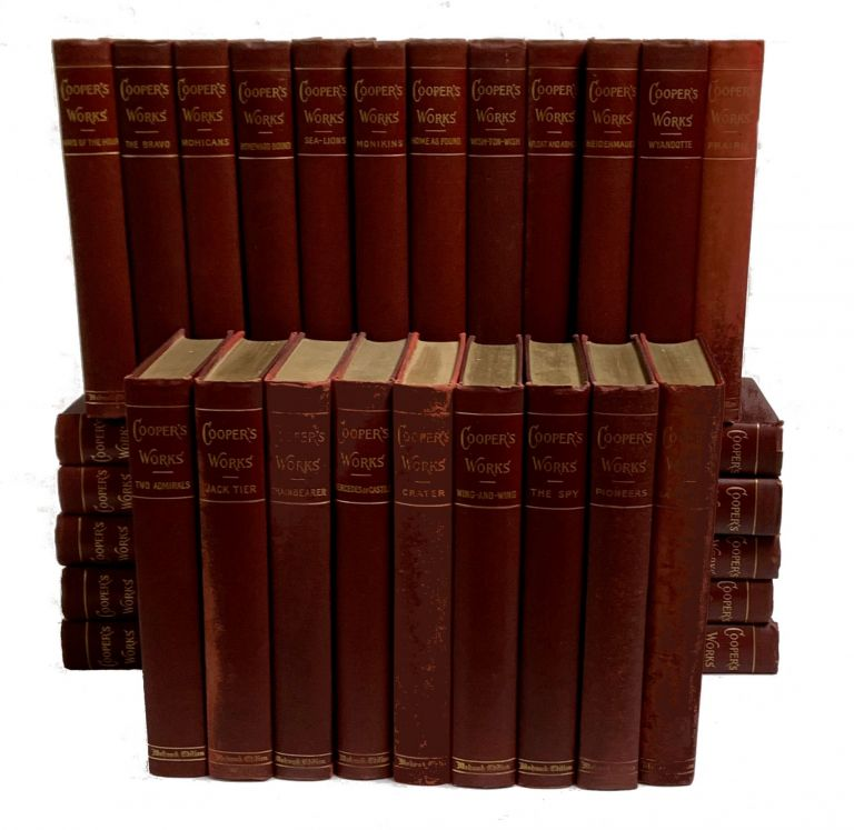 The Works of James Fenimore Cooper; 32 Volumes - Complete Set. Cooper James Fenimore.