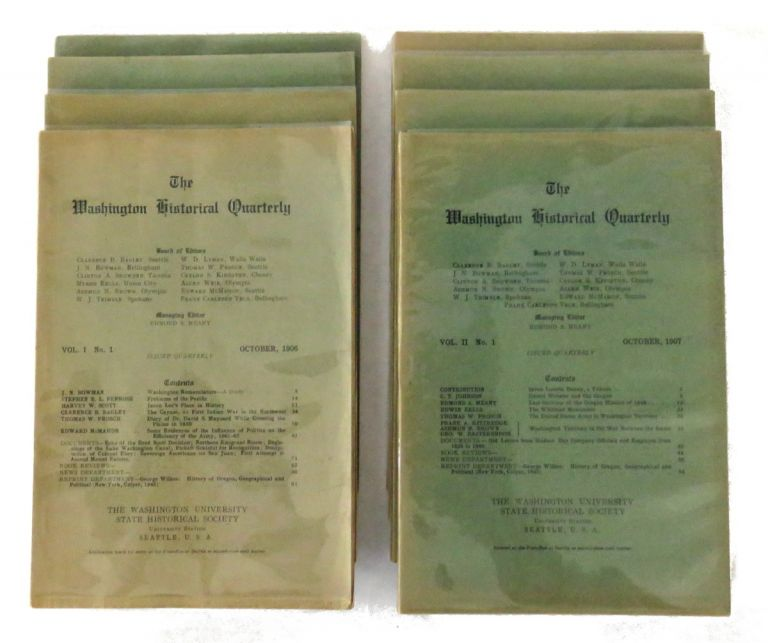 The Washington Historical Quarterly; Complete Set of First Two Years, Vol 1&2, Nos. 1-4. Edmond S. Meany, Managing.