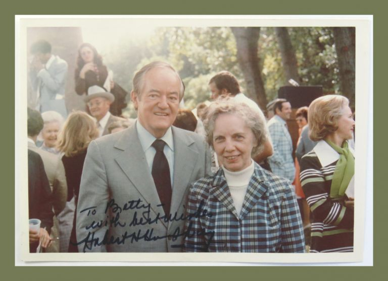 Photograph Signed. Hubert Humphrey.