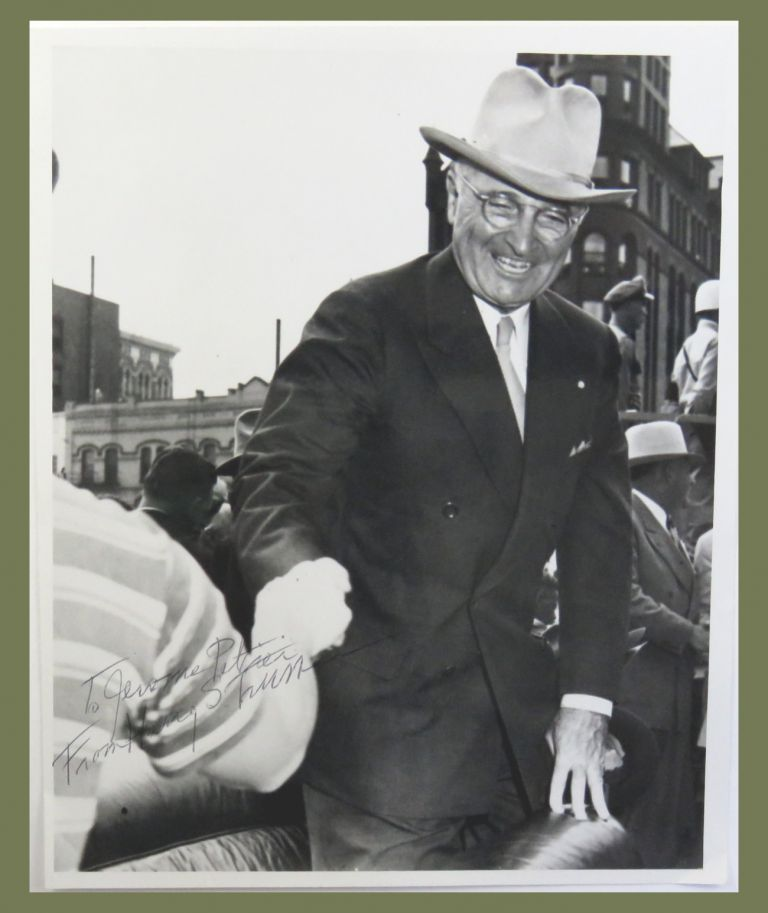 Photograph Inscribed. Harry S. Truman.