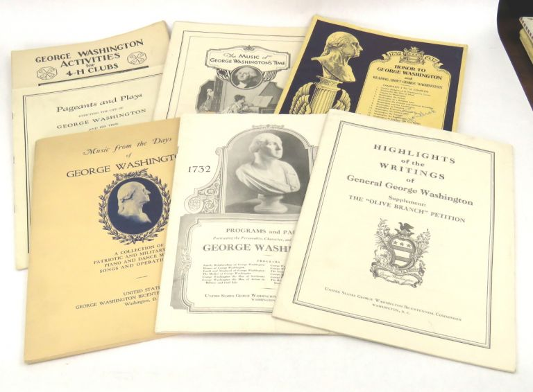 22 Pieces of Ephemera Associated with George Washington Bicentennial Celebration in the Yakima Valley. George Washington.