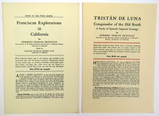 8 HLS and 1 TLS; Franciscan Explorations in California. Lillian E. Fisher, Estelle.