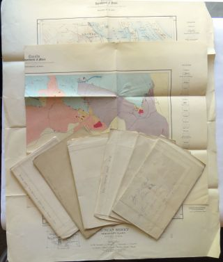 Seven (7) Mining Maps of Alaska and British Columbia