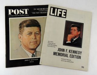 Life Magazine and Saturday Evening Post. John F. Kennedy.