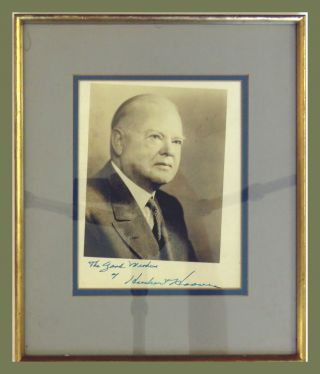 Photograph Signed. Herbert Hoover