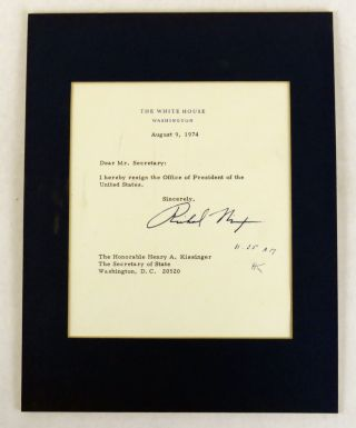Resignation Letter. Richard Nixon