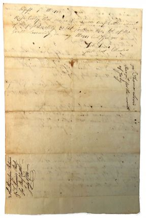 Manuscript Revolutionary War Sworn Statement; Reference Receipt for Seven Beef Cattle for Use of the Continental Army at Southington, CT