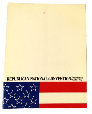 Official Program; 30th Republican National Convention / Miami Beach 1972. Richard Nixon