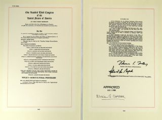 Typed Letter Signed and Copy of Omnibus Budget Reconciliation Act of 1996