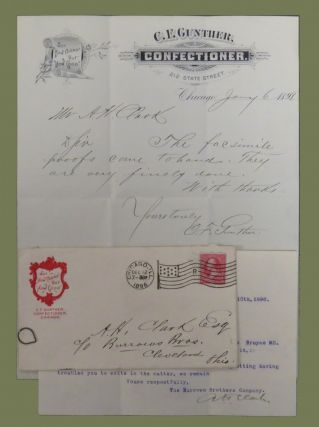 Autograph Note Signed. C. F. Gunther, Charles Frederick.