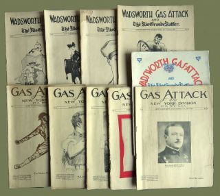 Wadsworth Gas-Attack and The Rio Grand Rattler; 10 Issues, Including First and Last Issue of Vol. 1