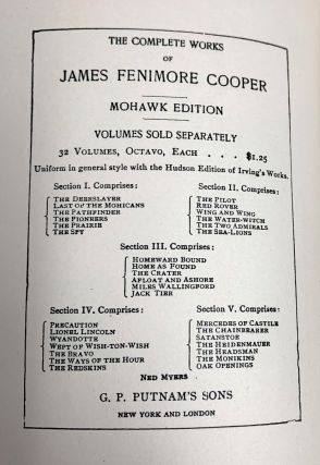 The Works of James Fenimore Cooper; 32 Volumes - Complete Set