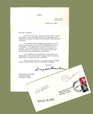 Typed Letter Signed. Dwight D. Eisenhower