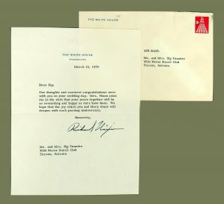 Typed Letter Signed. Richard Nixon