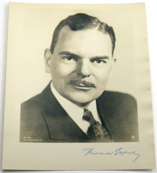 Autographed Photo and Secretarial ALS. Thomas Dewey