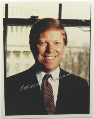 Photograph Signed. Richard A. Gephardt