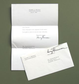 Typed Note Signed. Harry Truman