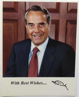 Photograph Signed. Bob Dole