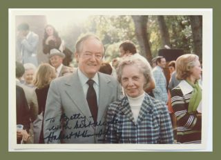 Photograph Signed. Hubert Humphrey