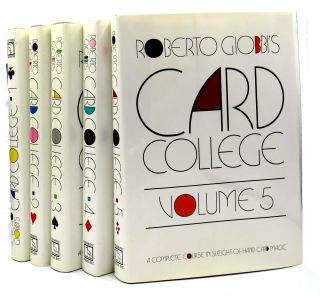 Card College; A Complete Course In Sleight-Of-Hand Card Magic, Vols. 1 - 5. Robert Giobbi