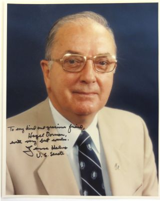 Color Photograph Signed. Jesse Helms