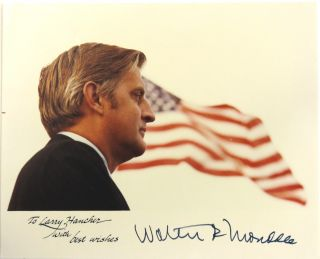 Photograph Signed. Walter P. Mondale