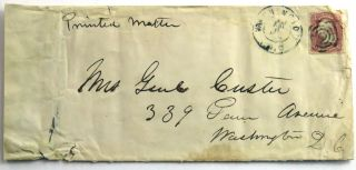"Mailing Envelope Incorporating ""Genl Custer"" Gen. George Armstrong Custer."