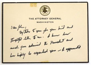 Autograph Letter Signed. Robert F. Kennedy