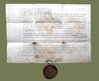 Letters of Patent to Melancton Smith for Lot 3, 640 A in Fayette Township; Includes Wax Great...