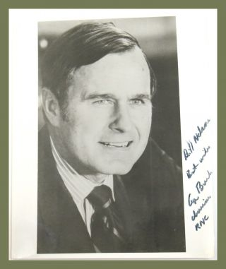 Photograph Inscribed. George H. W. Bush