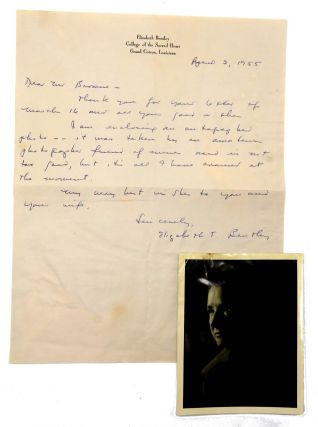 ALS and Inscribed Signed Photograph; American Spy for USSR. Elizabeth Bentley