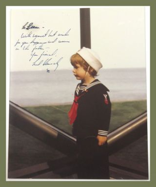 Photograph Inscribed. Ted Kennedy