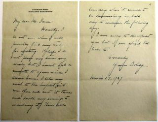 Autographed Letter Signed. Grace Coolidge.