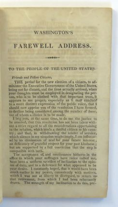Washington's Farewell Address, And the Constitution Of The United States