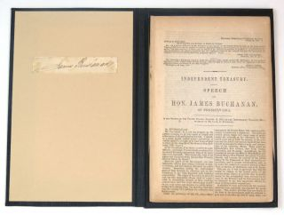 Independent Treasury Speech of Hon. James Buchanan of Pennsylvania; including Remarks of Messrs....