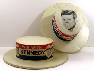 Two Campaign Hats. John F. Kennedy