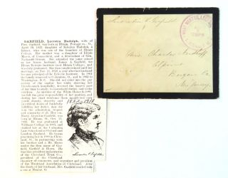 Addressed Envelope Signed. Lucretia Garfield.