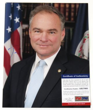 Photograph Signed. Tim Kaine.