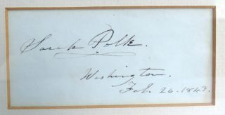 Calling Card; Signed and dated